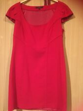 Coast Red Dress Size 14 Excellent Condition