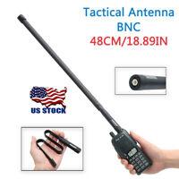 ABBREE 18.8'' BNC Foldable CS Tactical Antenna For ICOM Kenwood Two Way Radio US