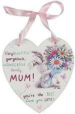 Bebunni Maman Fête Des Mères Anniversaire Cœur Suspendu Plaque Maison