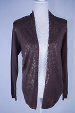 Brown Sparkle Cardigan Long Sleeve Size 10/12  NEW RRP £35
