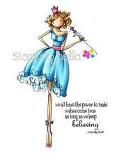 New Stamping Bella Cling Rubber Stamp Uptown Girl Faith Fairy free usa ship