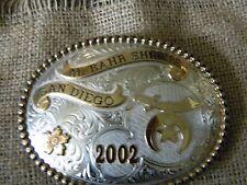 GIST  Rodeo Trophy Belt Buckle 2002 Al Bahr Shrine San Diego sterling silver