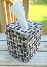 Tessalations Tissue Cover Black White & Gray