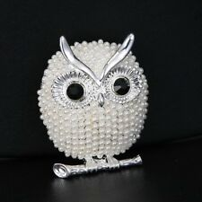 Fashion Lovely Animal Owl Rhinestone Crystal Women Brooch Pin Breastpin Jewelry
