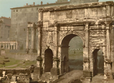 Roma. Arco di Settimio Severo.  PZ vintage photochromie photochromie, vint