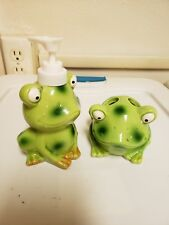 Frog soap dispenserand Frog Tooth Brush Holder