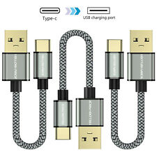 Short USB-C Cable, Braided Fast Charging Cord for Galaxy S9/S9+,Note 8 Note 9 LG