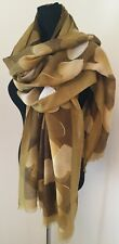 Hearts Scarf Mustard with Gold Metallic Foil Softest Feel Long  Stunning NEW