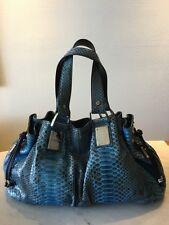 New Authentic Michael Kors Collection Python Snake Rehearsal Satchel Handbag