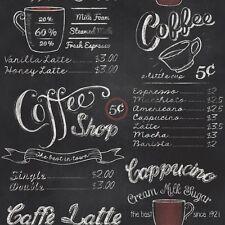 Blackboard Chalkboard Coffee Shop Wallpaper by Rasch 234602