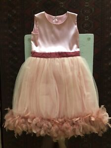 GIRLS DRESS WITH REAL FEATHERS SIZE 10