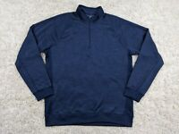 Under Armour Cold Gear Storm Sweatshirt Men 2XL XXL 1/2 Zip Pullover Loose Blue