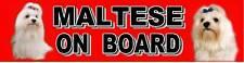 MALTESE ON BOARD Dog Car Sticker By Starprint