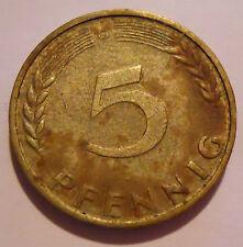 5 Pfennig DM Deutsche Mark Deutschland 1970 G Umlaufgeld