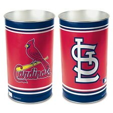 "ST. LOUIS CARDINALS 15""X10.5"" TRASH CAN WASTEBASKET BRAND NEW WINCRAFT"