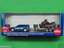 1:55 Siku Super 2547 BMW X5 4.8i PKW mit Anhänger und Motorrad Blitzversand DHL