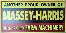 MASSEY HARRIS TRACTOR FARM MACHINERY DEALER OLD SIGN REMAKE BANNER SHOP ART 2X4