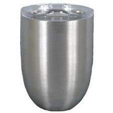 Magnolia Lane Stainless Steel Stemless Wine Cup, 10 oz Silver