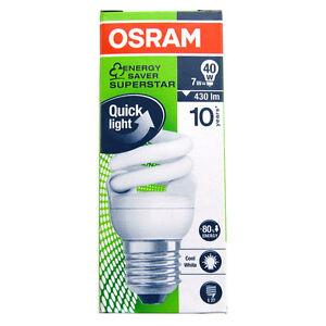 OSRAM Micro Twist 7W=40W E27 Fluorescent Lamp Compact Fluorescent Lamp 948960 O