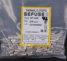 10Pcs SF188E SEFUSE Cutoffs NEC Thermal Fuse 192°C 10A 250V NEW