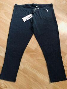 NEW! All Saints Women's Dark Grey Gazette Cropped Leggings, Size M / L, 12-14!