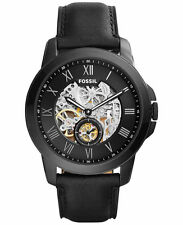 Fossil Men's ME3096 Grant Automatic Skeleton Dial Black Leather Watch