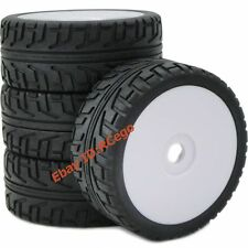4pcs 1/8 RC Soft Tires Tyres w/ Hex 17mm Wheels Rims For 1/8 RC HPI On-Road Car