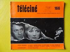 Téléciné n° 166 1970 Herbert Biberman Giovanni Brua Jean-Marie Drot télévision