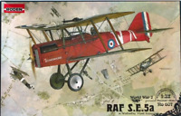 Roden 607 - Raf S.E.5A (w/wolseley Viper) British  - 1/32 Scale Model Kit 282 mm