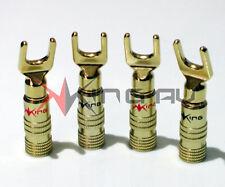 More details for 4 x king av gold series amplifier spade terminals, banana plugs, binding posts