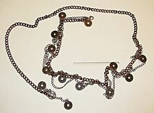 CHIC ANTIQUED METAL BELLY CHAIN WITH DISCS LOOPED CHAIN BOHO HIPPY FESTIVAL BELT