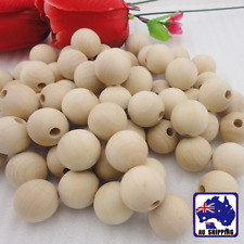 36pcs 16mm  Round Wood Wooden Bead Jewellery Making DIY Unfinished JBRB98016x2