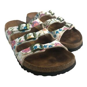 Papillio by Birkenstock Florida Fresh Floral 3 Strap Sandals Womens Size 38 US 7