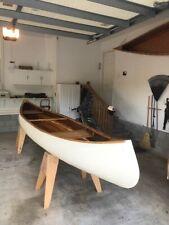 Home built wood-epoxy 16 ft canoe.