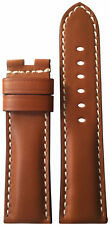 22x22 RIOS1931 for Panatime Smooth Brown Vintage Watch Strap for Panerai Deploy