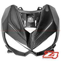 2014-2016 Z1000 Upper Front Nose Headlight Cover Panel Fairing Cowl Carbon Fiber