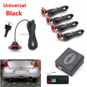 4Pcs Universal Car Parking Adjustable 16mm Flat Sensors Reverse Backup Radar Kit