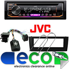 FIAT GRANDE PUNTO JVC Autoradio Bluetooth CD MP3 USB & KIT Volante Nero