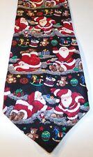 Santa Claus Playing Silk Tie Club International Tip Top Christmas Tie