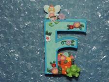 "Mary Engelbreit Alphabet Letter F Frog Fairy Flower Blue 2.5"" Resin Figurine New"