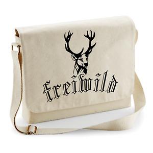 Freiwild Hirsch Hunter Fun Sayings Nature Motif Wild Shoulder Bag Messenger Bag