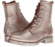 New in Box Frye Womens Veronica Combat Boots Saddle Multi Metallic SIZE 8 70323
