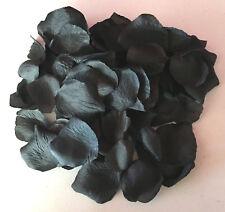 100 x Rosenblätter schwarz  Streudeko -Tischdeko