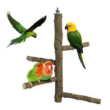 More details for wooden parrot budgie bird cage perches tree branch paw grinding hanging toys p l