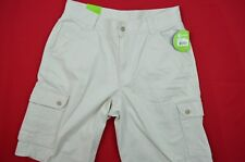 NEW WITH TAGS CROCS BIEGE CARGO SHORTS 32X12 ACTUAL 34X12 100% COTTON FLAT FRONT