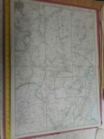 100% ORIGINAL LARGE LONDON AND SOUTH WESTERN RAILWAY MAP BY WELLER C1863 VGC