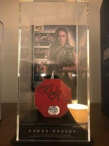 Ronda Rousey signed fight used canvas Fanatics Authentic COA UFC