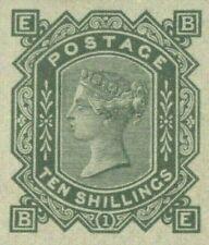 More details for gb qv stamp sg.128var 10s plate 1 (1878) official reproduction superb & v.rare