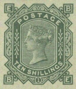 GB QV Stamp SG.128var 10s Plate 1 (1878) OFFICIAL REPRODUCTION Superb & V.Rare