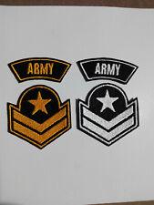2 Parches bordados para coser estilo Militar 6/2 y 6/6 cm adorno ropa